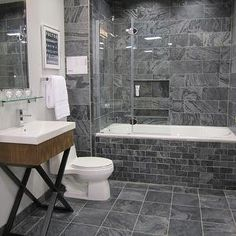 slate bathroom design